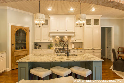 Bayberry Lane House Plan kitchen island