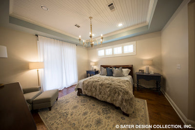Bayberry Lane House Plan master bedroom