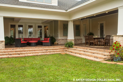 Bayberry Lane House Plan patio