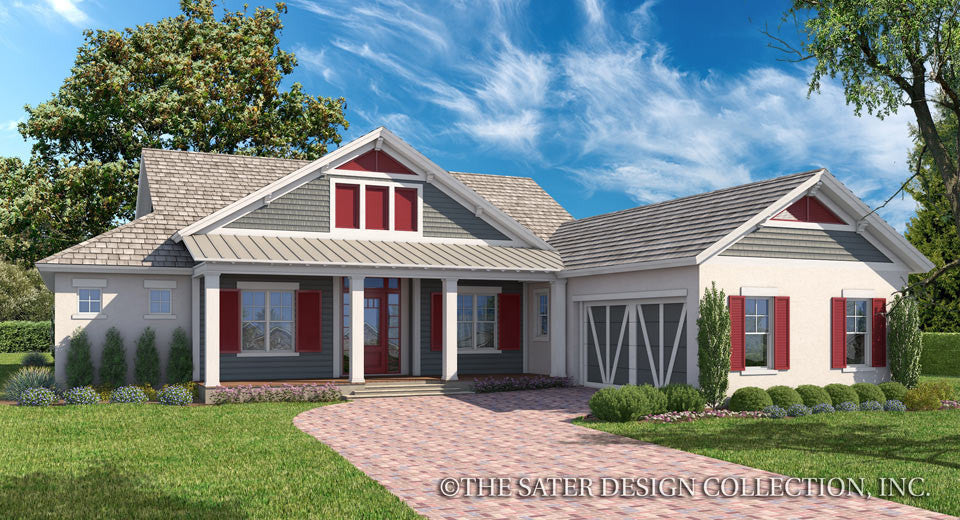 Maple Grove-Farmhouse Front Elevation-Plan #7087