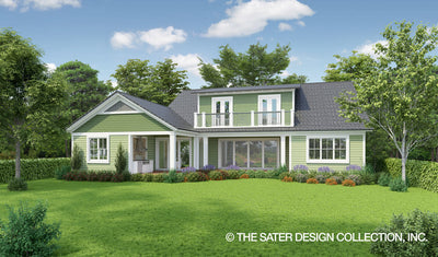 Banyan Ridge-Farmhouse Home Plan-Rear Elevation
