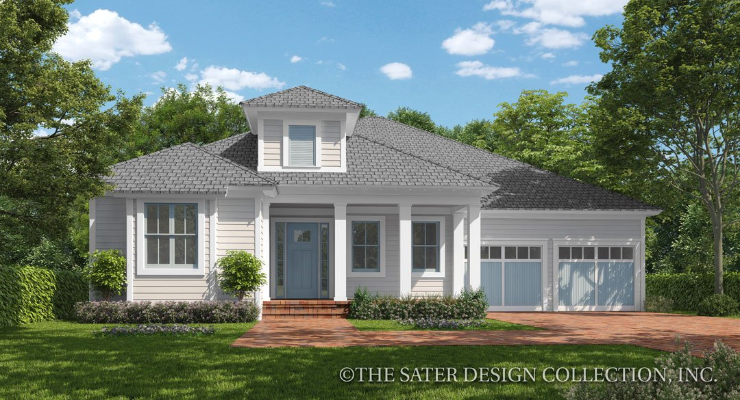 Cedar Cove Creek Farmhouse Plan Front Elevation