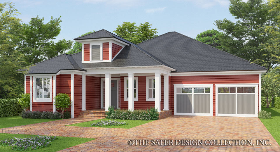 Cedar Cove Creek-Farmhouse Home Plan-Front Elevation