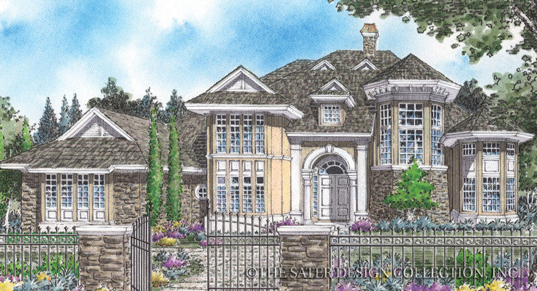 Clarissant-Front Elevation-Plan #8002
