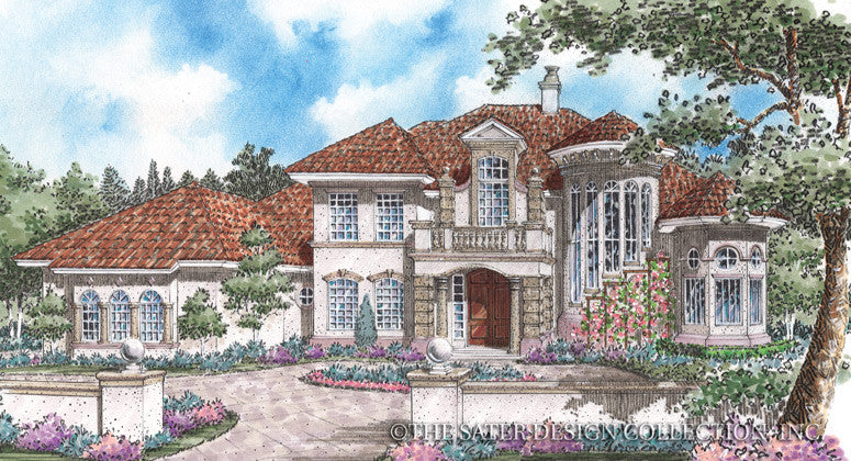 Alessandra-Front Elevation-Plan #8003
