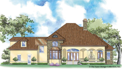Chadbryne Home Plan - rear elevation view - plan# 8004-RXC
