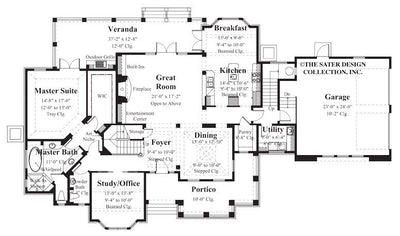 Chadbryne Home Plan - Main Floor Plan - #8004-Main-Floor