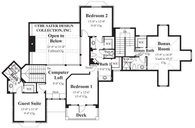 Chadbryne Home Plan - Upper Level Floor Plan - #8004