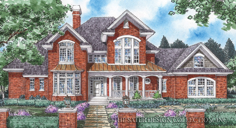 Channing-Front Elevation-Plan #8005