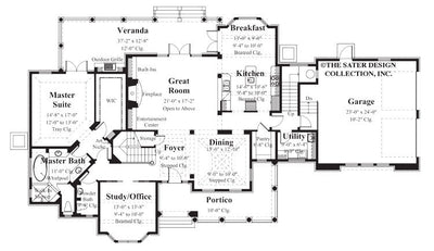 Channing-Main Level Floor Plan #8005