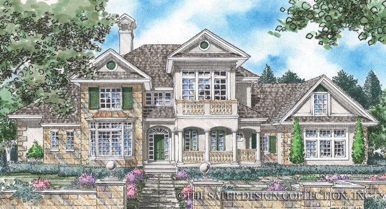 Berkley Home Front Elevation-Plan #8006