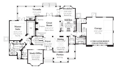 Berkley Home Main Level Floor Plan - Plan #8006