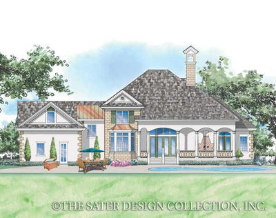 Berkley Home Rear Elevation Plan #8006