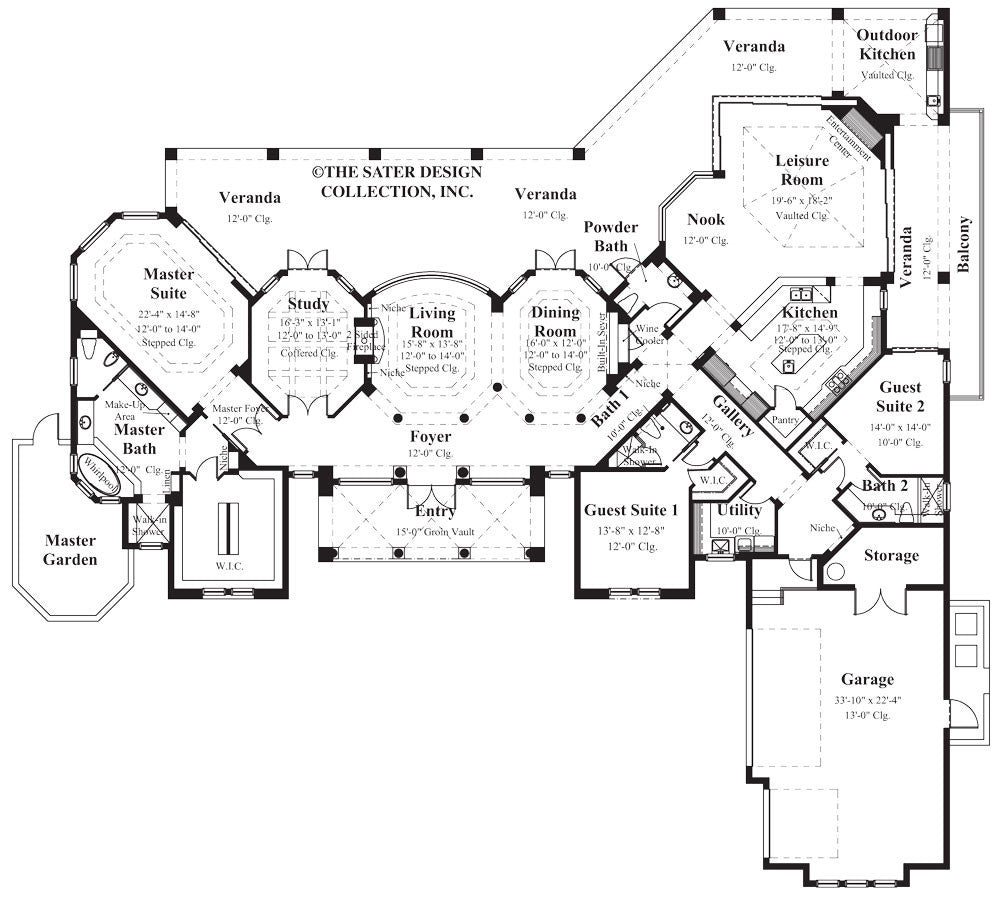 Home Plan Della Porta | Sater Design Collection