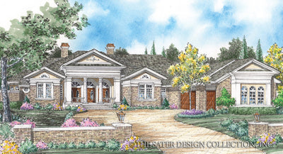 New Abbey-Front Elevation-Plan #8008