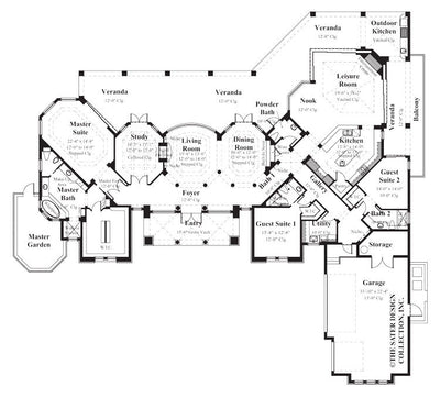 Baxter-Main Level Floor Plan - Plan #8009