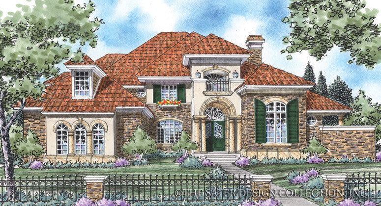 Capucina-Front Elevation-Plan #8010