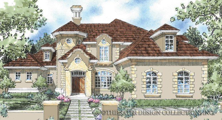San Lorenzo-Front Elevation-Plan #8014