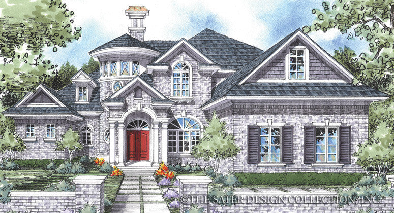 Burke House-Front Elevation-Plan #8015