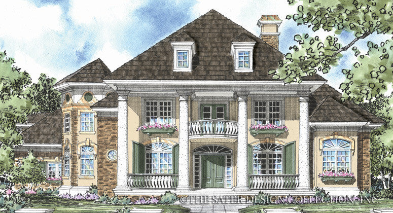 Aubrey-Front Elevation-Plan #8016