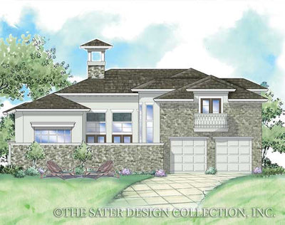Edmonton-Rear Elevation Rendering-Plan #8023