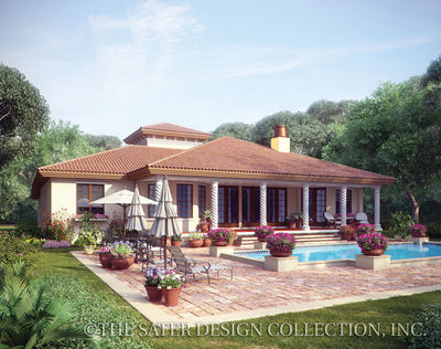 Mercato-Rear Elevation with Pool-Plan #8028