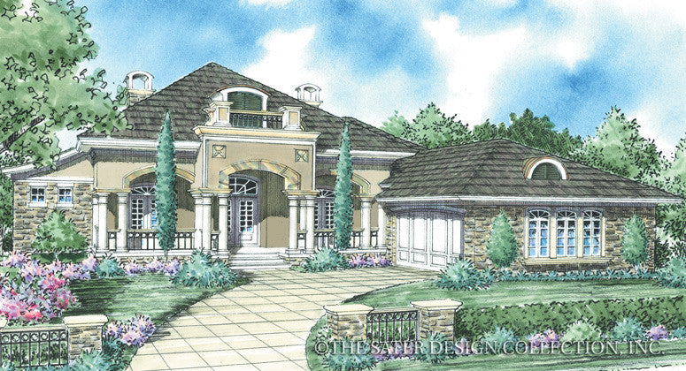 Hamilton- Front Elevation Plan -Plan #8029