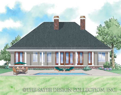Kinsley-Rear Elevation Rendering-Plan 8030