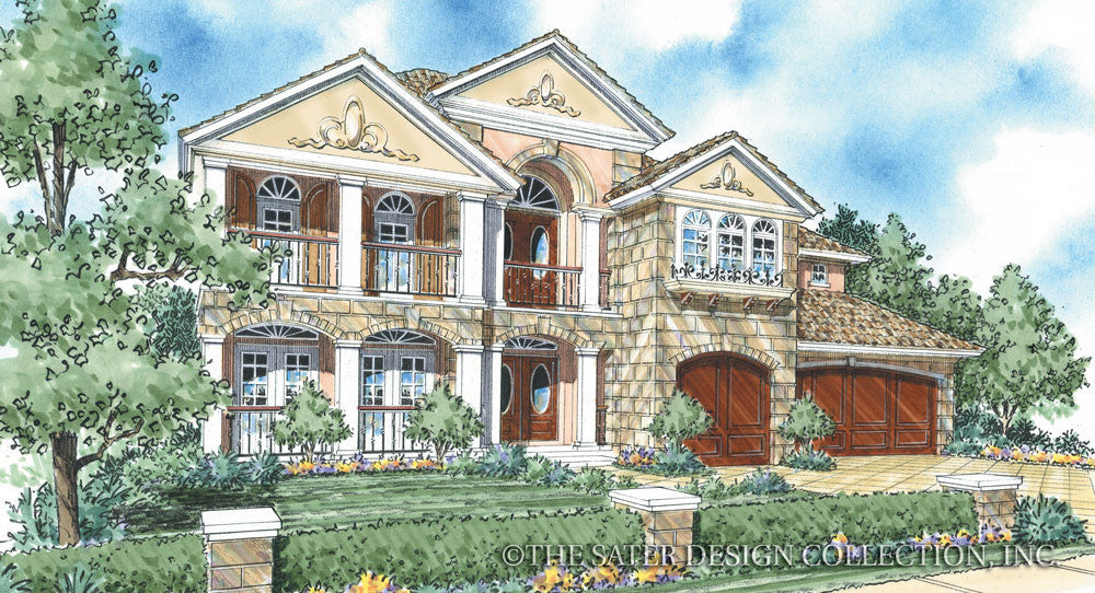 Isabella Home Front Elevation Plan # 8033