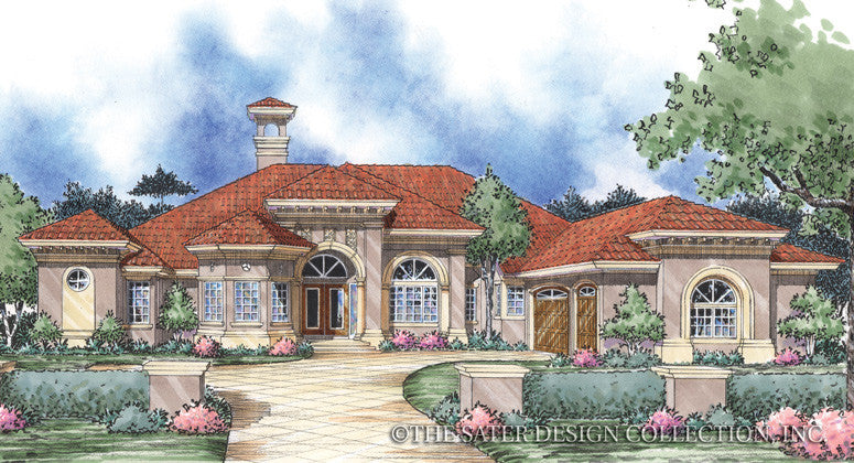 Salina-Front Elevation Rendering-Plan #8043