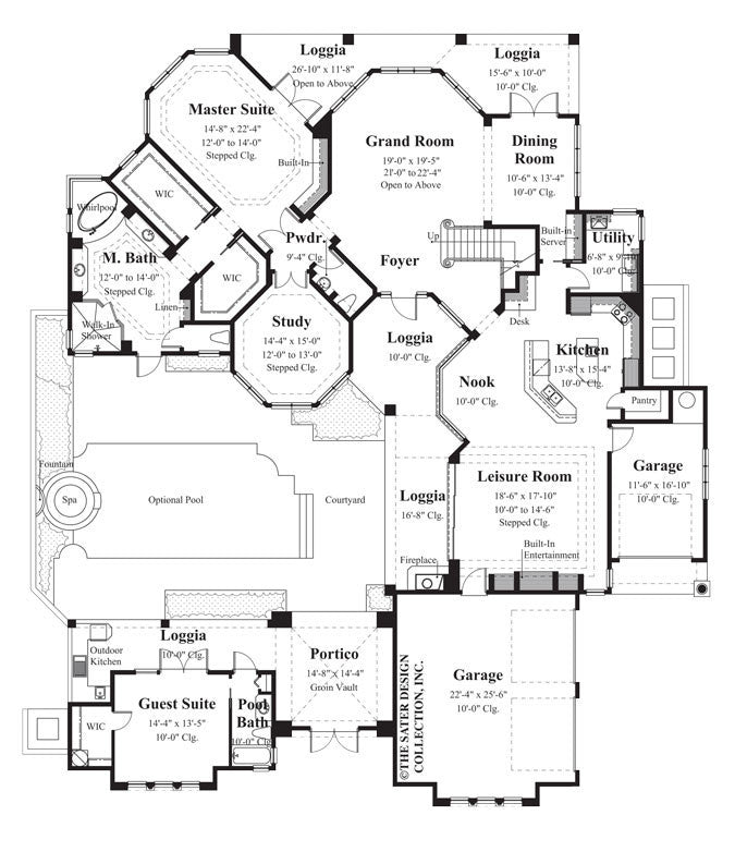 Spanish style home plans sater design collection home plans for Pre drawn house plans