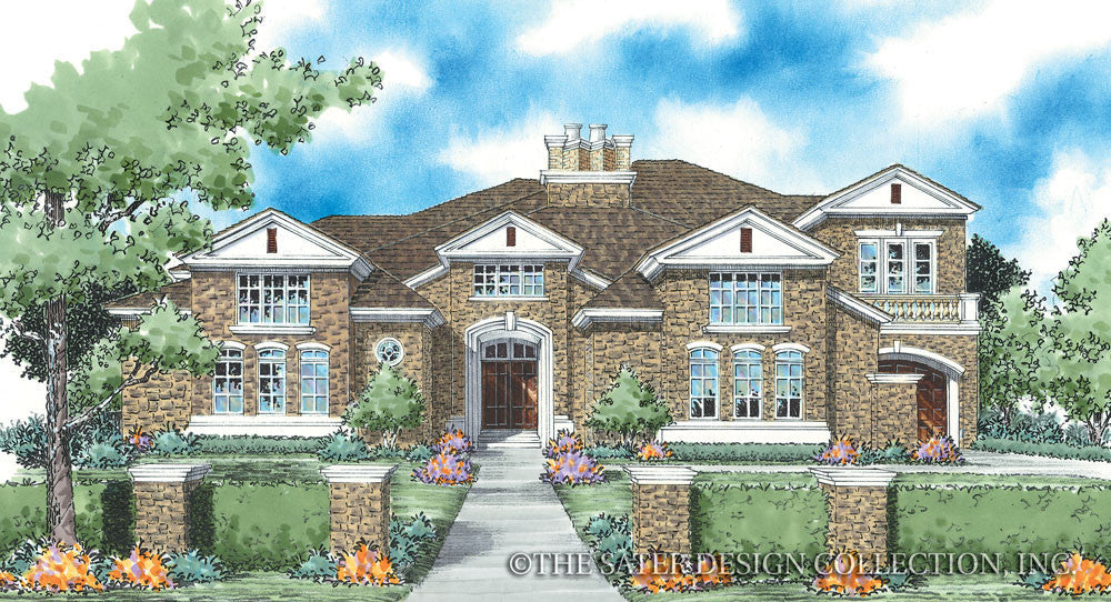 Huxford - Front Elevation Render Image - Plan #8048
