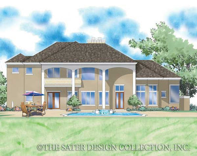 Huxford Home Rear Elevation Render Image -Plan #8048
