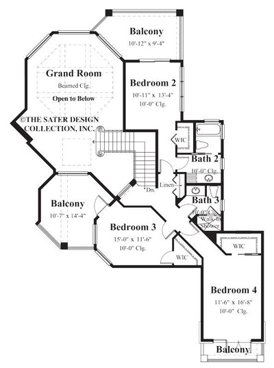 Huxford-Upper Level Floor Plan-#8048