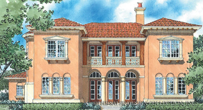 Corsini-Front Elevation-Plan #8049