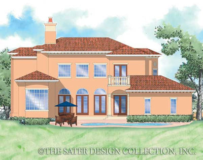 Corsini-Rear Elevation-Plan #8049
