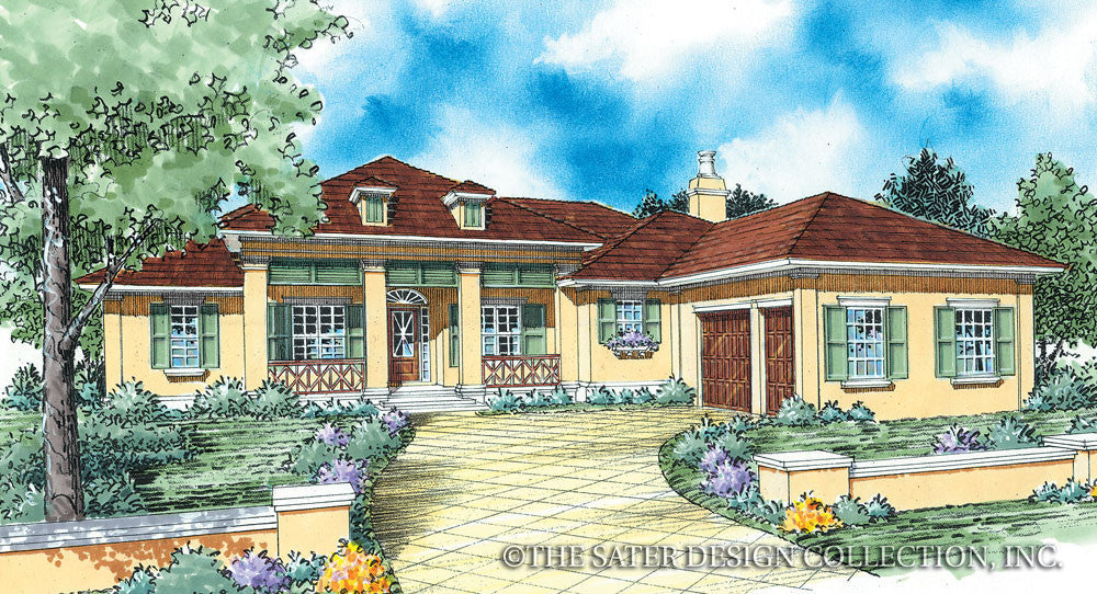 8054 front elevation_1024x1024v1457021345 luxury house plans luxury home plans sater design sater - Luxury Home Designs Plans