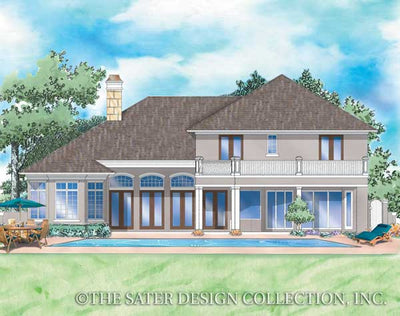 Argentellas-Rear Elevation-Plan #8056