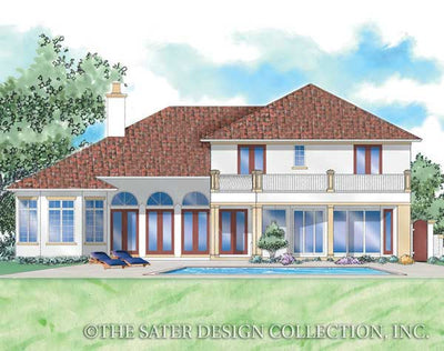 Massimo-Rear Elevation Rendering-Plan #8057