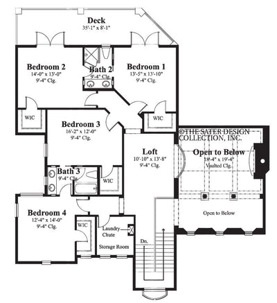 Massimo Upper Level Floor Plan 8057_U_