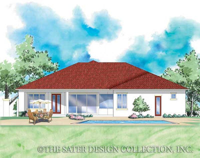 Porta Rosa-Rear Elevation-Plan #8058
