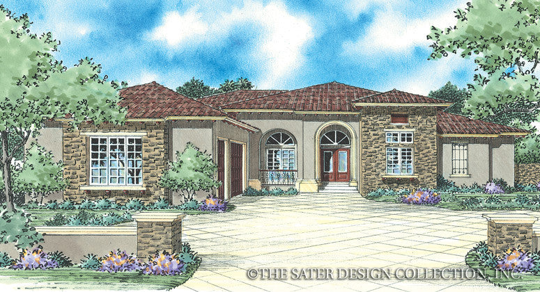 Simone-Front Elevation- Plan #8059
