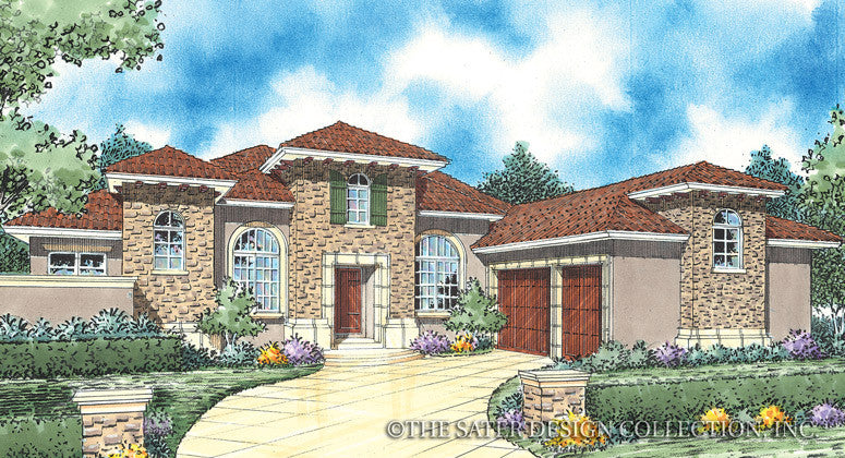 Santa Trinita-Front Elevation- Plan #8063