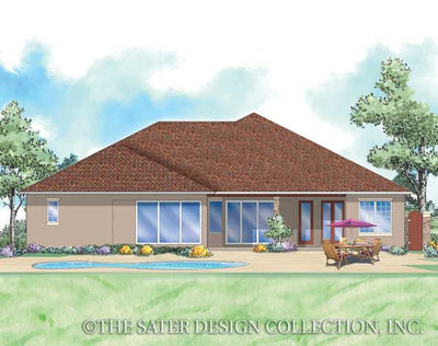 Santa Trinita-Rear Elevation-Plan #8063