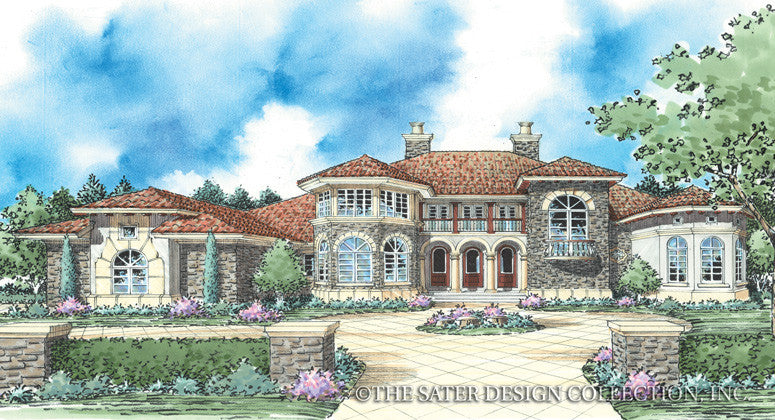 Trevi-Front Elevation-Plan #8065