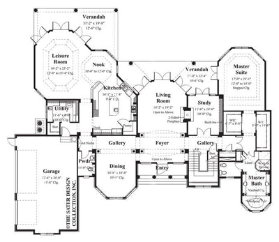 Trevi-Main Level Floor Plan-#8065