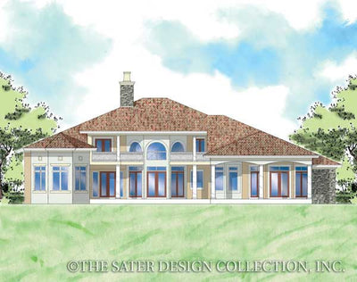 Trevi-Rear Elevation-Plan #8065
