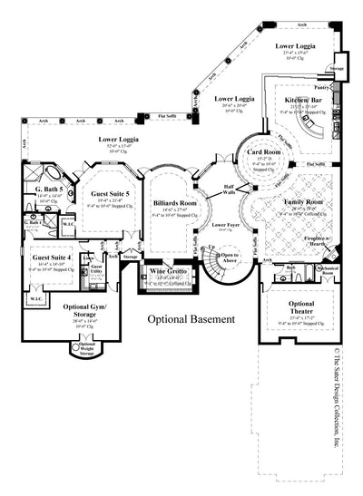Villa Sabina optional basement floor plan