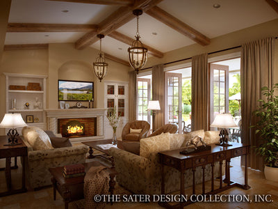 Casina Rossa-Great Room/Fireplace-Plan #8071