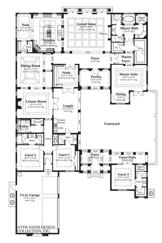 8073_M_large Single Story Courtyard House Plans For Homes on single story country house plans, single story great room house plans, single story southwestern house plans, single story coastal house plans, single story narrow lot house plans, single story spanish house plans, single story craftsman house plans, single story multi family house plans, single story colonial house plans, single story lake house plans, single story traditional house plans,
